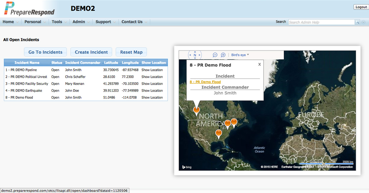 Common Operating Picture Screenshot 1